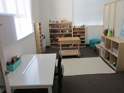 photo of child therapy office